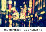 abstract blurred image of... | Shutterstock . vector #1137683543