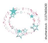 round frame or border christmas ... | Shutterstock .eps vector #1137683630
