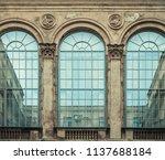 gallery of the winter garden... | Shutterstock . vector #1137688184