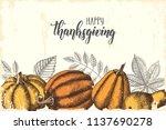 thanksgiving day lettering... | Shutterstock .eps vector #1137690278