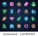 neon icons for music  holiday ...   Shutterstock .eps vector #1137694529