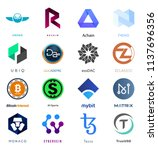 cryptocurrency coin sign vector ... | Shutterstock .eps vector #1137696356