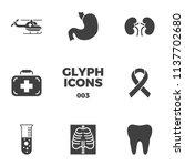 medical vector icons set. glyph ... | Shutterstock .eps vector #1137702680