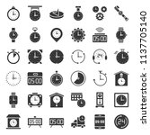 clock  watches and time related ... | Shutterstock .eps vector #1137705140