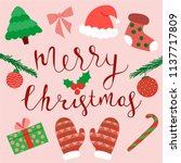 merry christmas greeting card.... | Shutterstock .eps vector #1137717809