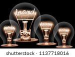 photo of light bulbs with... | Shutterstock . vector #1137718016