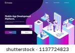 responsive web template design... | Shutterstock .eps vector #1137724823