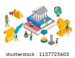 history class  school  college... | Shutterstock .eps vector #1137725603