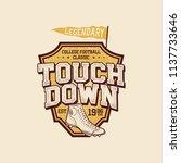classic college t shirt design. ...   Shutterstock . vector #1137733646