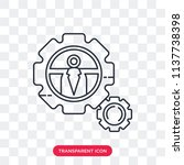 settings vector icon isolated... | Shutterstock .eps vector #1137738398