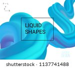 dynamic shapes composition. 3d... | Shutterstock .eps vector #1137741488