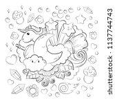 halloween concept. hand drawn... | Shutterstock .eps vector #1137744743