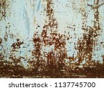 rusty metal surface and... | Shutterstock . vector #1137745700