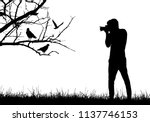 a young man in nature... | Shutterstock .eps vector #1137746153