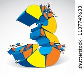 3d vector low poly colorful... | Shutterstock .eps vector #1137749633