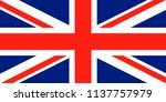 union jack. united kingdom flag.... | Shutterstock .eps vector #1137757979