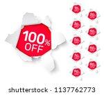 paper explosion banner... | Shutterstock .eps vector #1137762773