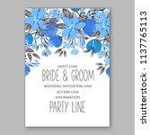 floral blue forget me nots... | Shutterstock .eps vector #1137765113