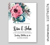 floral wedding invitation... | Shutterstock .eps vector #1137765176