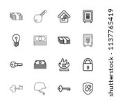 safe icon. collection of 16... | Shutterstock .eps vector #1137765419