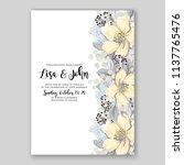 floral sakura wedding... | Shutterstock .eps vector #1137765476