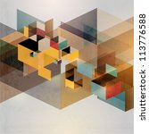 retro geometric background | Shutterstock .eps vector #113776588