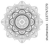 black and white mandala vector... | Shutterstock .eps vector #1137767270