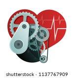 heart health abstract... | Shutterstock .eps vector #1137767909