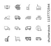 truck icon. collection of 16... | Shutterstock .eps vector #1137772544