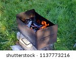 a roasted brazier on charcoal... | Shutterstock . vector #1137773216