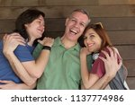 portrait of mature dad and... | Shutterstock . vector #1137774986
