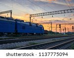 railroad infrastructure during... | Shutterstock . vector #1137775094