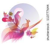 two birds   Shutterstock .eps vector #113777644