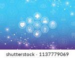 abstract dna molecule... | Shutterstock . vector #1137779069