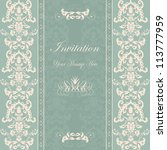 invitation card damask | Shutterstock . vector #113777959