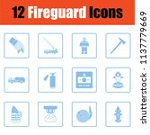 set of fire service icons. blue ... | Shutterstock .eps vector #1137779669