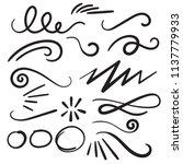swoosh curls swash swish with... | Shutterstock .eps vector #1137779933