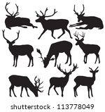 Vector Deer Silhouette