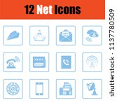 communication icon set.  blue... | Shutterstock .eps vector #1137780509