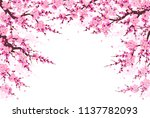 spring background with... | Shutterstock .eps vector #1137782093