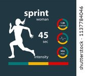 infographics woman running... | Shutterstock . vector #1137784046