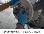 propeller's bulkhead checking   Shutterstock . vector #1137784526