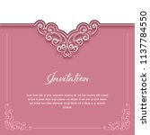 vintage background with lace... | Shutterstock .eps vector #1137784550