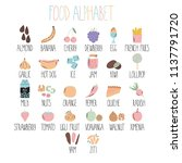 stylish food alphabet. from a... | Shutterstock .eps vector #1137791720