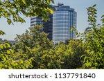 the dutch national bank behind... | Shutterstock . vector #1137791840