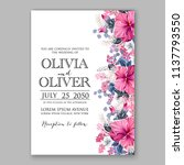 wedding invitation design... | Shutterstock .eps vector #1137793550
