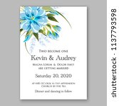 wedding invitation design... | Shutterstock .eps vector #1137793598