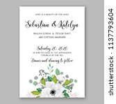 wedding invitation design... | Shutterstock .eps vector #1137793604