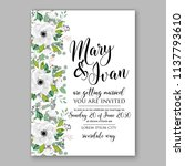 wedding invitation design... | Shutterstock .eps vector #1137793610