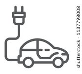 electric car line icon  ecology ... | Shutterstock .eps vector #1137798008